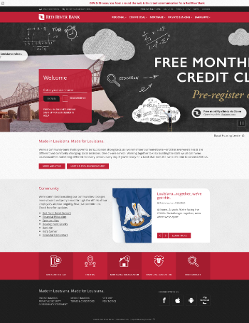 Red River Bancshares, Inc. Website Screenshot