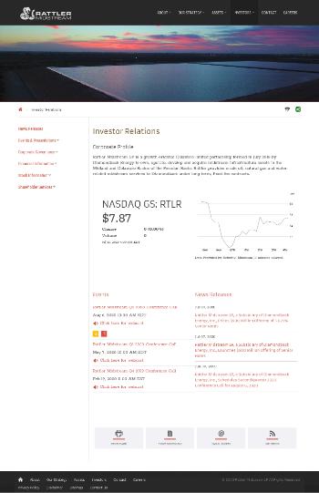 Rattler Midstream LP Website Screenshot
