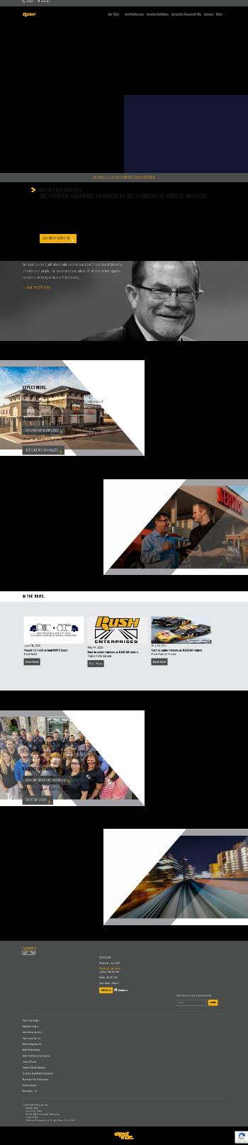 Rush Enterprises, Inc. Website Screenshot