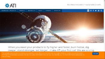 Allegheny Technologies Incorporated Website Screenshot