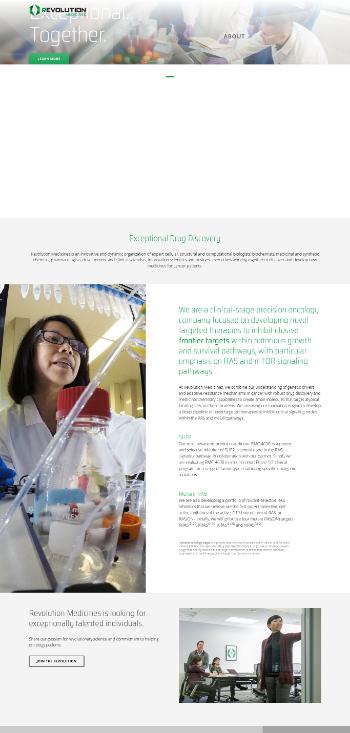 Revolution Medicines, Inc. Website Screenshot