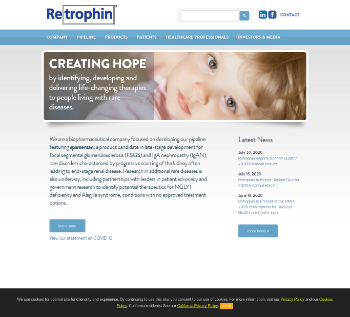 Retrophin, Inc. Website Screenshot