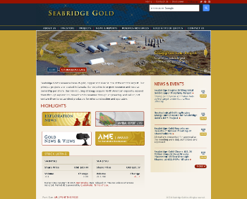 Seabridge Gold Inc. Website Screenshot
