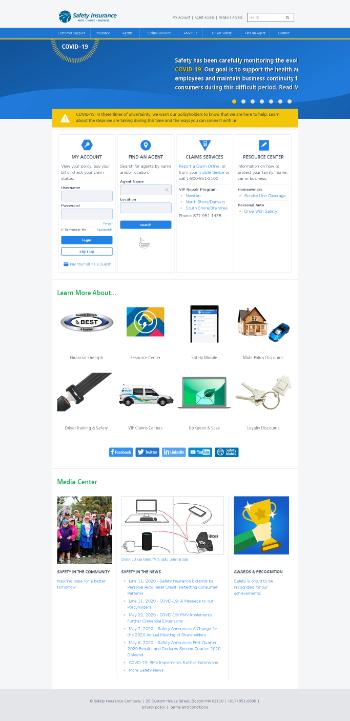 Safety Insurance Group, Inc. Website Screenshot