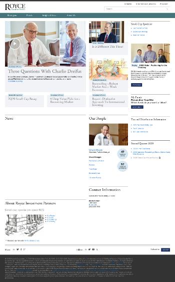 Royce Value Trust Inc. Website Screenshot