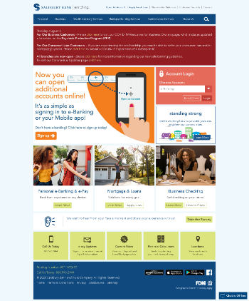 Salisbury Bancorp, Inc. Website Screenshot