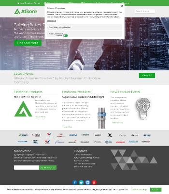 Atkore International Group Inc. Website Screenshot