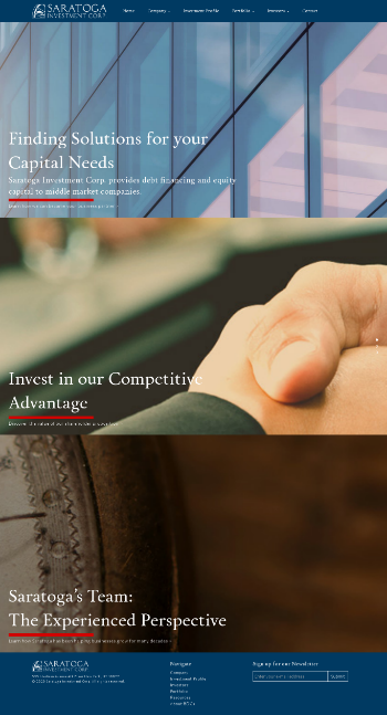 Saratoga Investment Corp. Website Screenshot