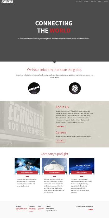 EchoStar Corporation Website Screenshot