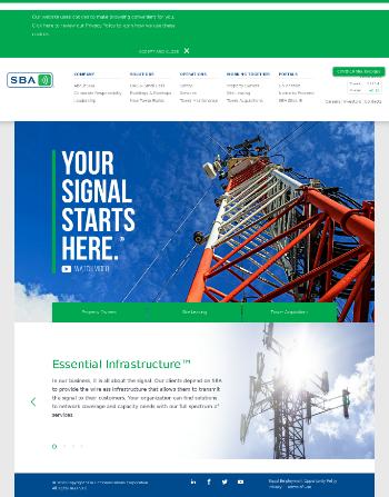 SBA Communications Corporation (REIT) Website Screenshot