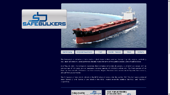 Safe Bulkers, Inc. Website Screenshot