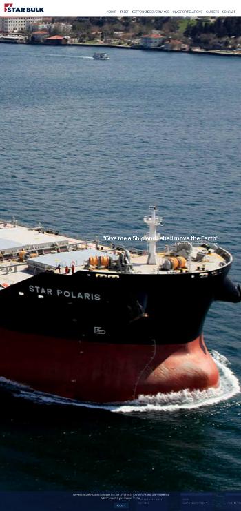 Star Bulk Carriers Corp. Website Screenshot