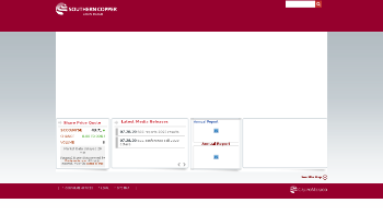 Southern Copper Corporation Website Screenshot
