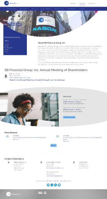 SB Financial Group, Inc. Website Screenshot