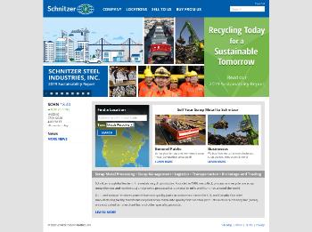 Schnitzer Steel Industries, Inc. Website Screenshot
