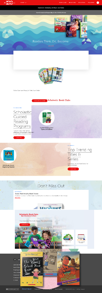 Scholastic Corporation Website Screenshot