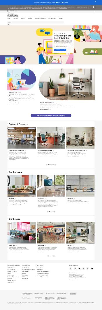 Steelcase Inc. Website Screenshot