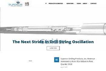 Superior Drilling Products, Inc. Website Screenshot