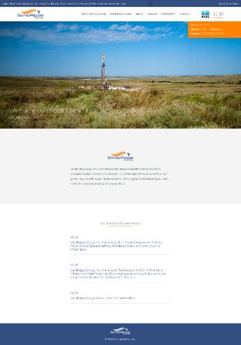 SandRidge Energy, Inc. Website Screenshot