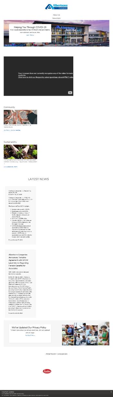 Albertsons Companies, Inc. Website Screenshot