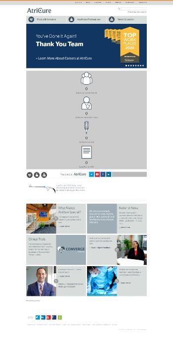 AtriCure, Inc. Website Screenshot