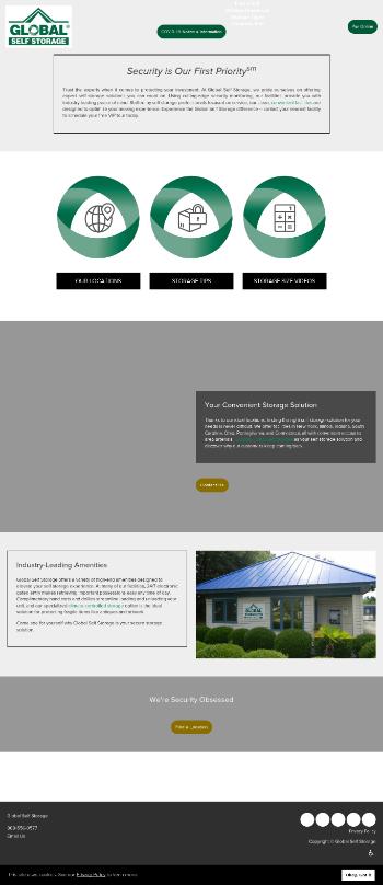 Global Self Storage, Inc. Website Screenshot