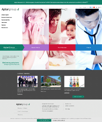 AptarGroup, Inc. Website Screenshot