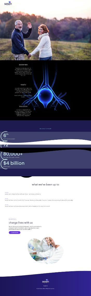 Sesen Bio, Inc. Website Screenshot
