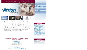 Atrion Corporation Website Screenshot