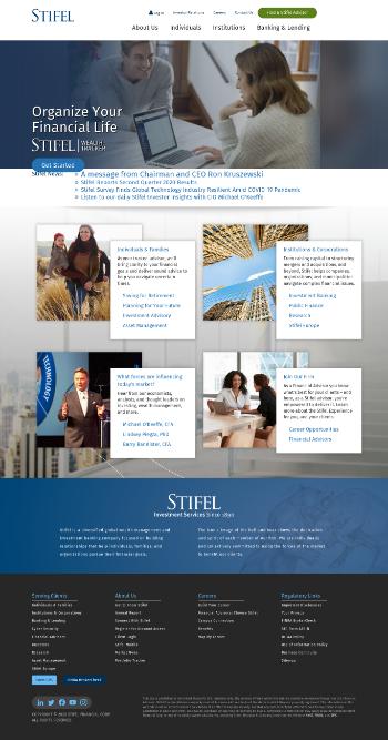 Stifel Financial Corp. Website Screenshot