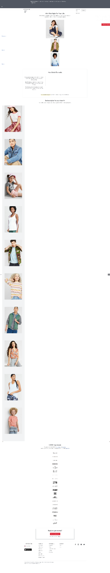 Stitch Fix, Inc. Website Screenshot