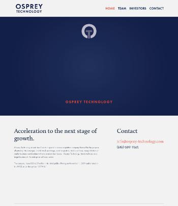 Osprey Technology Acquisition Corp. Website Screenshot