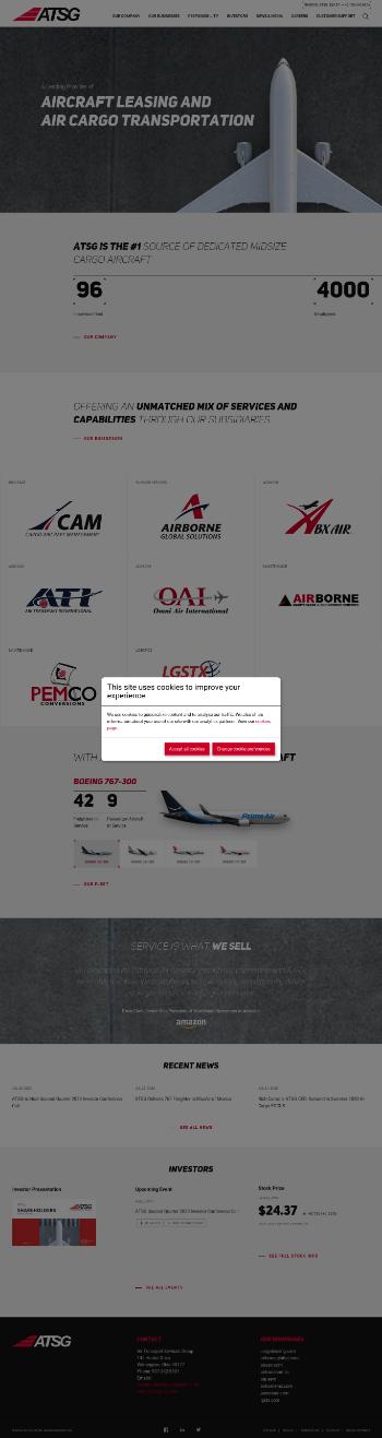 Air Transport Services Group, Inc. Website Screenshot