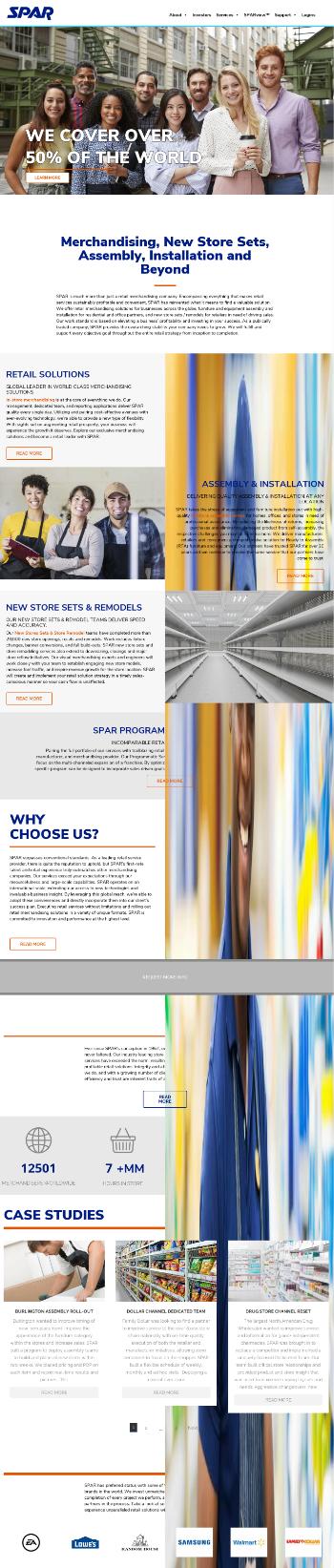 SPAR Group, Inc. Website Screenshot