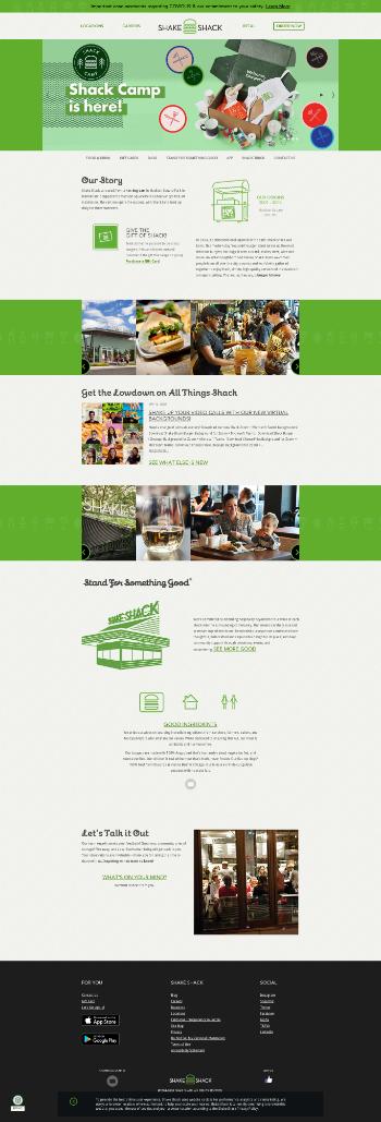 Shake Shack Inc. Website Screenshot