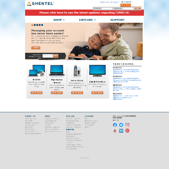 Shenandoah Telecommunications Company Website Screenshot