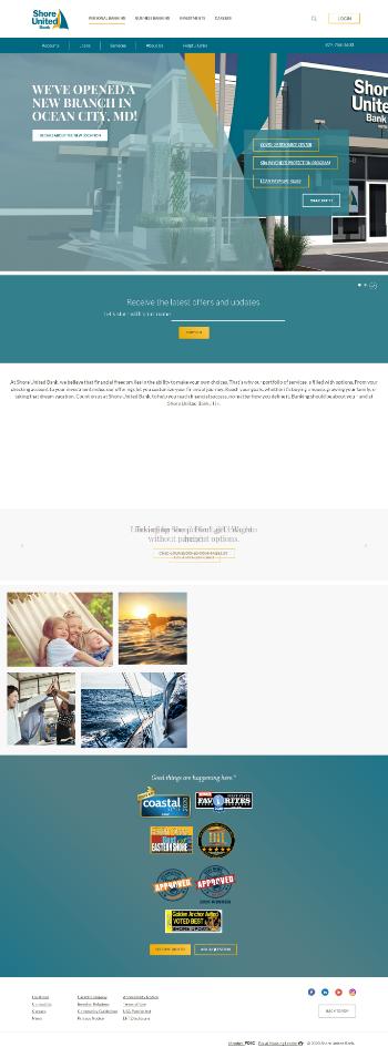 Shore Bancshares, Inc. Website Screenshot