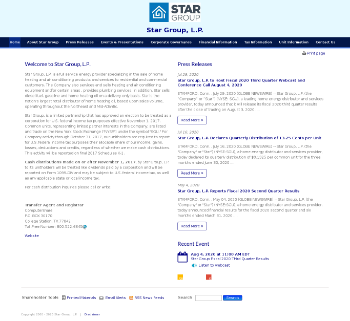 Star Group, L.P. Website Screenshot