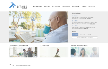 Antares Pharma, Inc. Website Screenshot