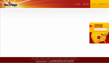 Six Flags Entertainment Corporation Website Screenshot