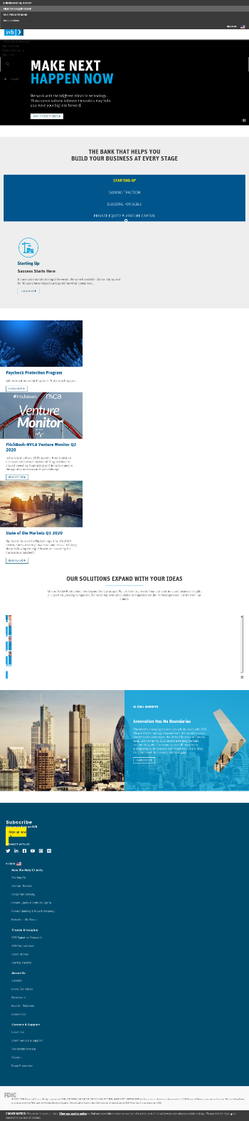 SVB Financial Group Website Screenshot