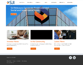 South Jersey Industries, Inc. Website Screenshot