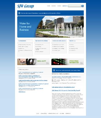SJW Group Website Screenshot