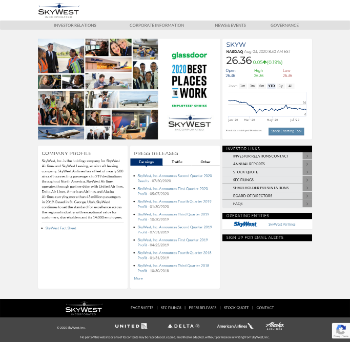 SkyWest, Inc. Website Screenshot