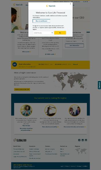 Sun Life Financial Inc. Website Screenshot