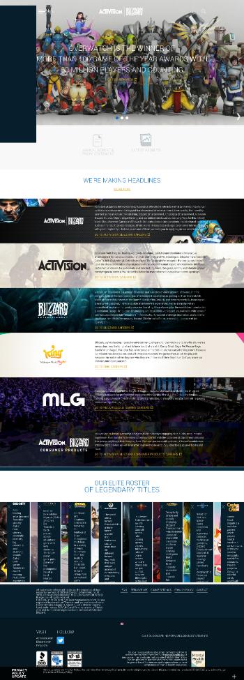 Activision Blizzard, Inc. Website Screenshot