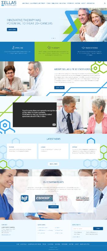 SELLAS Life Sciences Group, Inc. Website Screenshot