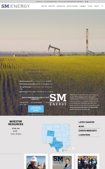 SM Energy Company Website Screenshot
