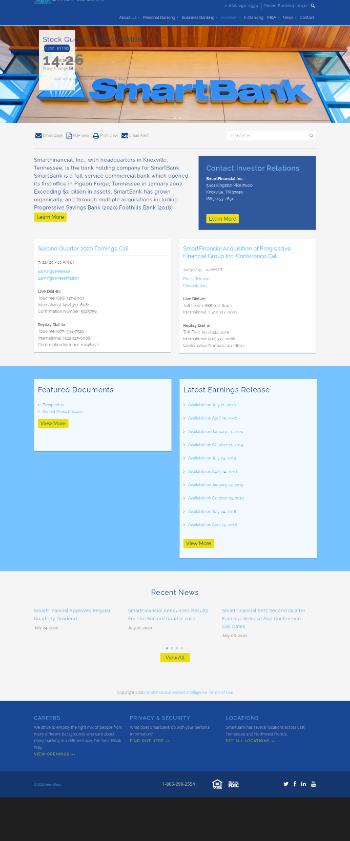 SmartFinancial, Inc. Website Screenshot