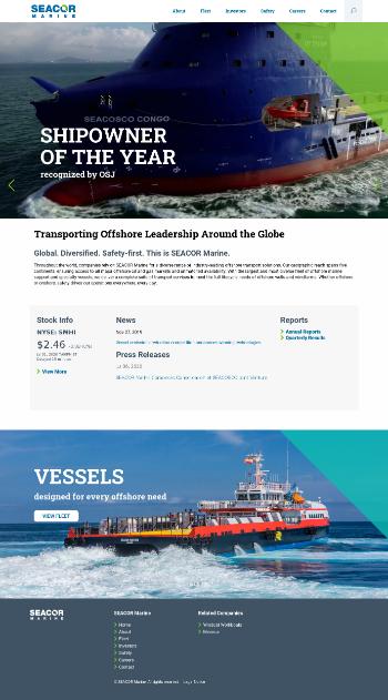 SEACOR Marine Holdings Inc. Website Screenshot